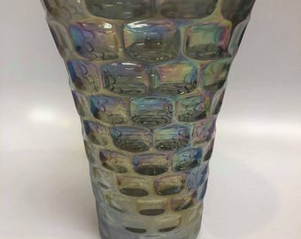 "Fenton Carnival Glass Block Federal Vase 8"""