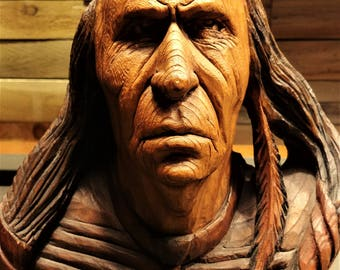 Hand carved American Indian