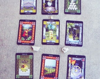 Expanded Past Present Future Tarot Reading