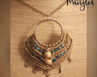 Macrame Pendant Necklace