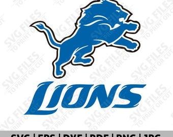 Detroit Lions SVG, Detroit Lions SVG File, Detroit Lions Logo, Football Logo, Cut Files Cricut Silhouette, Team Decal, Clipart - 04