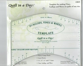 Scallops, Vines and Waves Template by Quilt in a Day