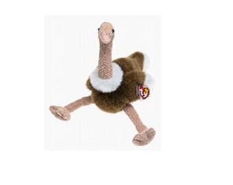 Ty Beanie Buddies - Stretch 1998 Ostrich