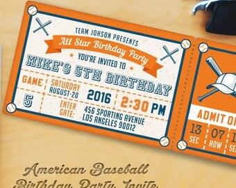 Baseball Birthday Party Invitation Templates