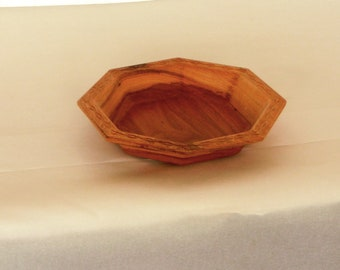 Pecan Octagon Shape Salad Bowl