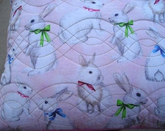 Rabbit Pillow Cover  Easter