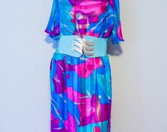 Sheer colorful vintage dress