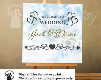 SVG wedding sign, welcome to the wedding sign, welcome sign, ai dxf emf eps pdf png psd svg svgz tif files for cricut, silhouette, brother