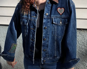 Upcycled Demin Patch Jacket