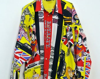 Shirt Versace Beatles Sex Pistols Rock Royaly