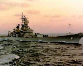 Digital Print of the USS IOWA (BB61)