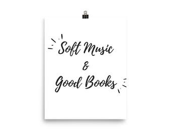 Music & Books Poster