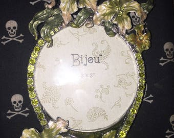 bijou Metal Enameled Photo Picture Frame