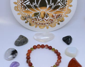 Orange Carnelian Bracelet (Sacral Chakra)
