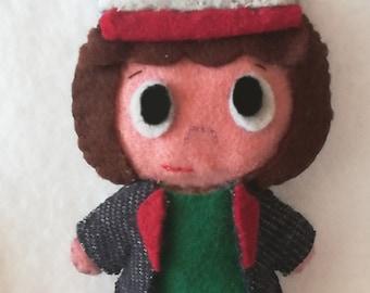 Stranger things Dustin felt doll handmade, tv series