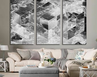 Abstract Sea Wall Art Abstract Sea Canvas Print Abstract Sea Large Wall Decor Abstract Sea Canvas Art Abstract Sea Painting Abstract Sea