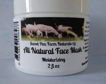 Moisturizing Face Mask-all natural with essential oils