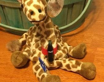 1999 Coke Coca Cola International Plush Beanie Stuffed Animal Giraffe Somalia