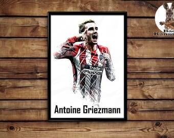Antoine Griezmann print wall art home decor poster