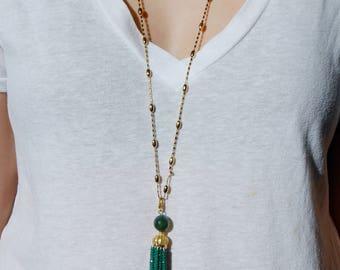 German Swarovski Tassel Necklace