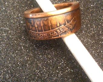 Molon Labe coin ring