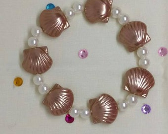 Shell and Pearl Bracelet