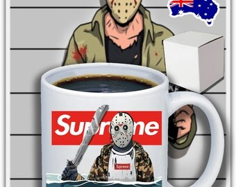Supreme Jason Mask Hypebeast Bape Bathing Ape 11oz Coffee Mug