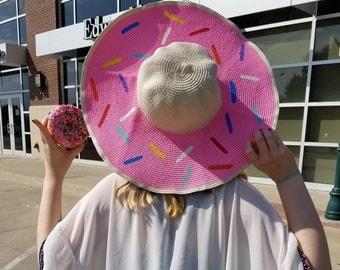 Pink Donut Sprinkle Hat, Donut Hat