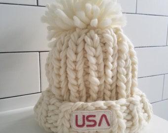 Merino Wool Winter Hat Inspired by Olympic Snowboarder Chloe Kim