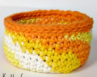 3 Baskets Crochet Pattern - Fast Easy DIY - Instant Download PDF - Kitchen Bathroom Office Tabletop Storage