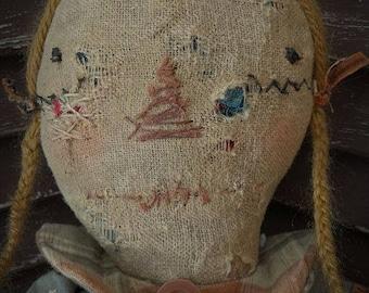 MUSTARD SEED ORIGINALS, Raggedy Ann, Fall, Halloween, Autumn, Thanksgiving, Primitive, Very Primitive, Doll by Sharon Stevens