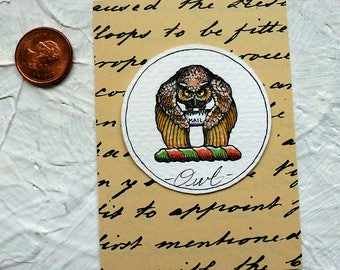 Owl Mail Watercolor Painting Original Miniature Harry Potter Art
