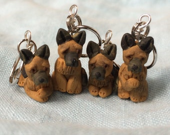 German Shepherd Stitch Markers (set of 4)