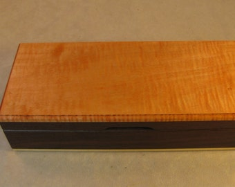 Toasted Ash and Dyed Figured Maple Jewelry Box - LB 111