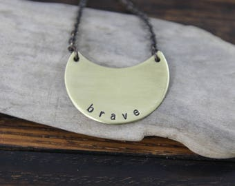 brave . my soul mantra necklace
