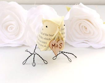 2nd Anniversary Cotton Bird Second Wedding Anniversary Cotton Gift Love Bird by Cotton Bird Designs