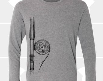 Fly Fishing, Long Sleeve T Shirt, Gift for Fly Fisherman, Dad, Women's Clothing, Fishing Gift, Fly Rod