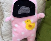 Bubbles  ~ The Rubber Duckie Black Pug-Jama Party Bummlie ~ Stuffing Free Dog Toy - Ready To Ship Today