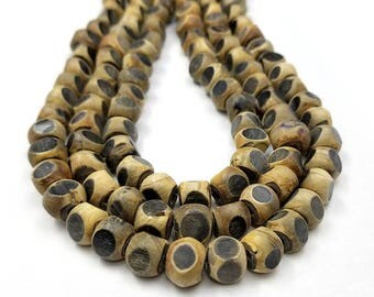 Set of 20 Unique Brown Horn Beads 12MM (H2628)
