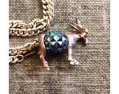Vintage Donkey Pendant Necklace