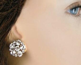 sale,Bridesmaids Earrings, multiples discount, Crystal Post, Rhinestone stud, wedding jewelry, Bridesmaid jewelry, cluster earrings, Bridal