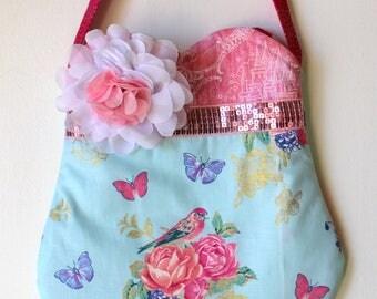 Little Birdie Purse, girls purse, toddler purse, spring purse, girlie purse