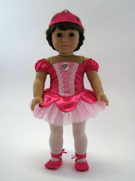 Fuchsia Classic Ballet Costume - 18 Inch Doll Clothes