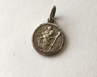925 Saint Christopher Medal vintage