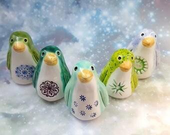 One Surprise Penguin Ceramic Figurine