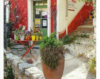 Provence Postcard - Red Faiencerie Facade, French Pottery Shop PSS 3539