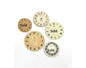Vintage Clock Face Antique Clocks Supply Farmhouse Decor