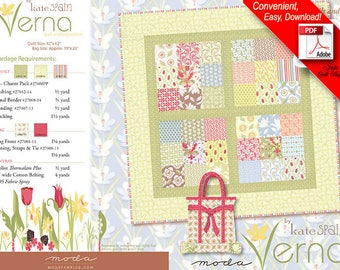 Verna Quilt and Tote Bag Pattern by Kate Spain for Moda Fabrics 27000 PS