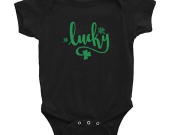 St. Patrick's Day Lucky Shamrock Infant Bodysuit Baby