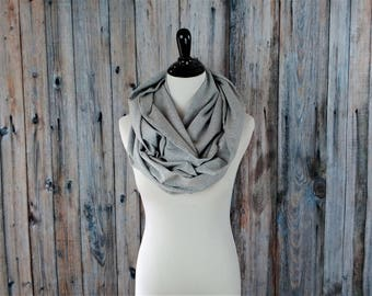 Infinity Scarf - Infinity Scarf Knit - Infinity Scarf Gray - Infinity Scarf Grey - Clothing Gift
